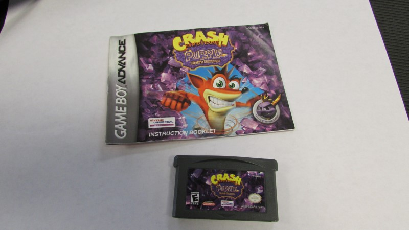 NINTENDO Nintendo GBA Game CRASH BANICOOT PURPLE (2005) (GBA)