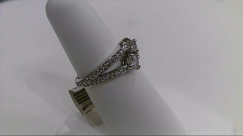 Lady's ever us engagement Diamond Fashion Ring 14K White Gold .69cttw
