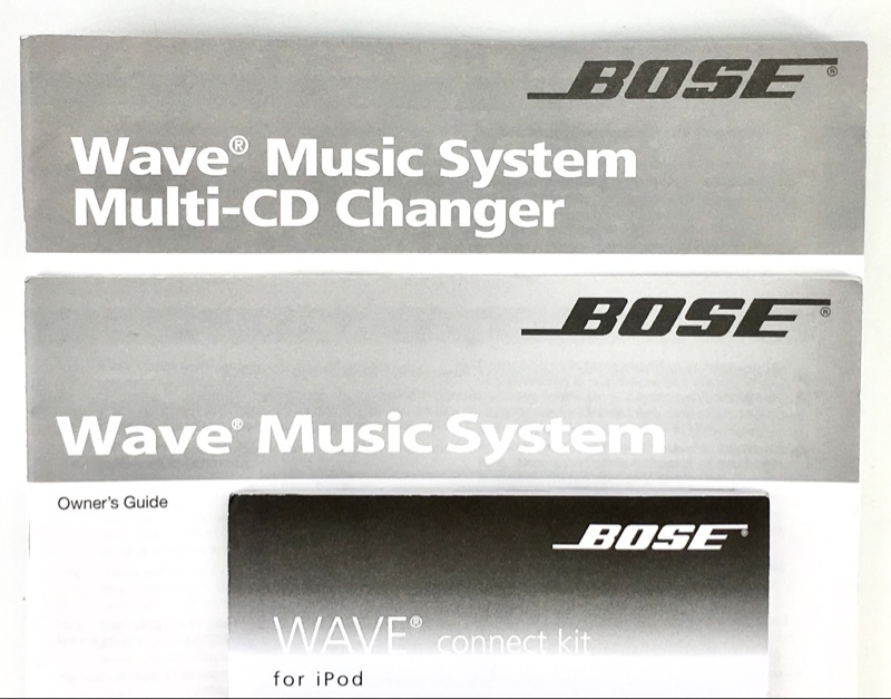 BOSE WAVE MUSIC SYSTEM AWRCC1 & MULTI-CD CHARNGER 3 DISC CONNECT KIT