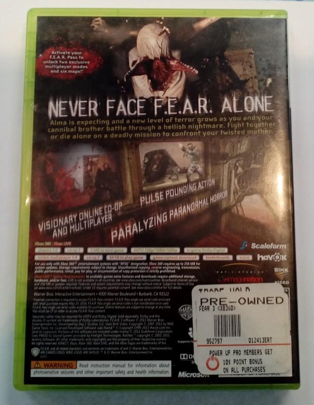 MICROSOFT XBOX 360 FEAR 3