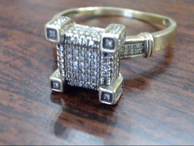 Lady's Diamond Cluster Ring 125 Diamonds .625 Carat T.W. 10K Yellow Gold 3.5g