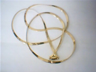 "24"" Gold Herringbone Chain 14K Yellow Gold 6g"