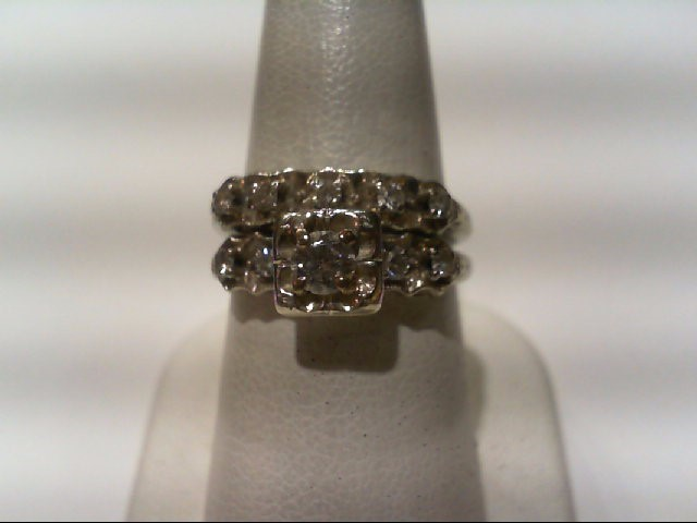 Lady's Diamond Wedding Set 10 Diamonds .52 Carat T.W. 14K White Gold 5.9g