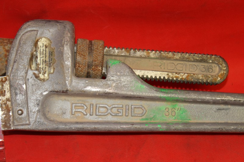 "Ridgid 36"" aluminum pipe wrench"