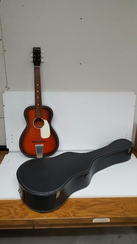 Vintage Barclay 5-69 USA Accoustic Guitar W/Case