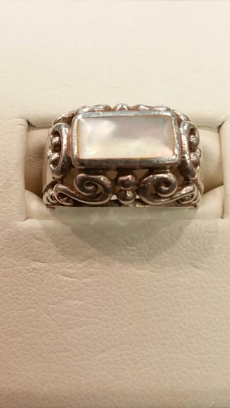 Lady's Silver Ring 925 Silver 4dwt Size:5.3