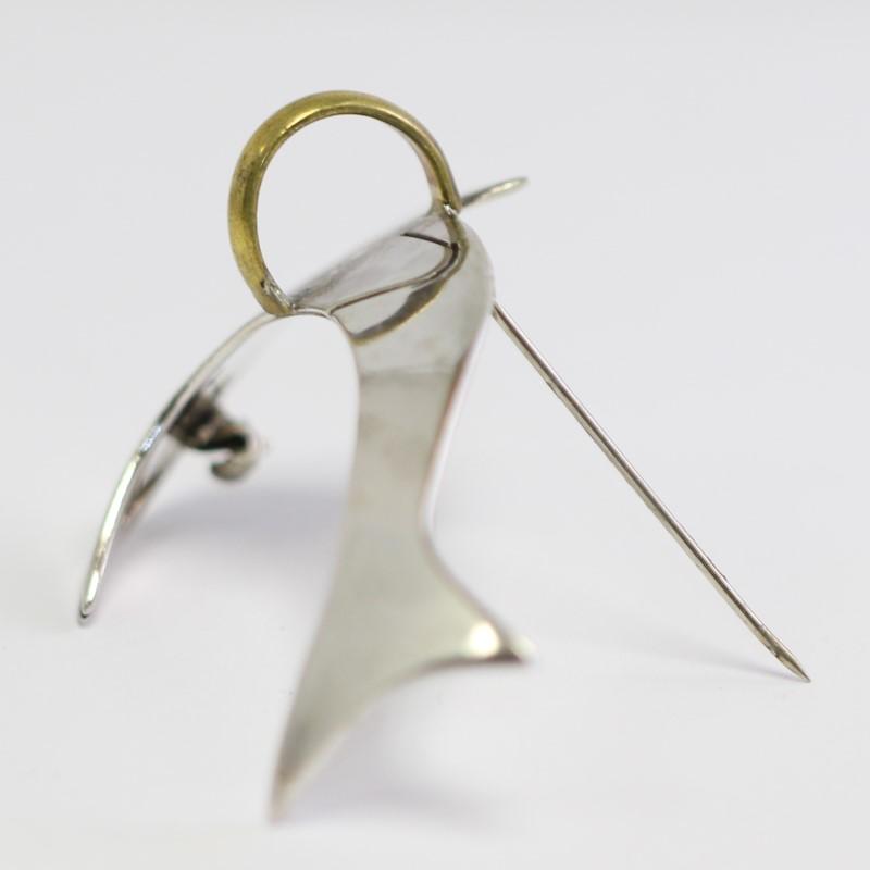 Silver Dolphin Brooch