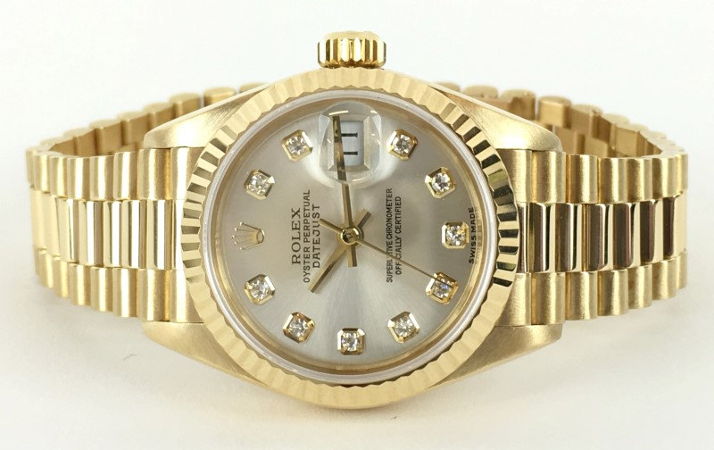 ROLEX 69178 18K OYSTER PERPETUAL LDS DATEJUST PRESIDENT