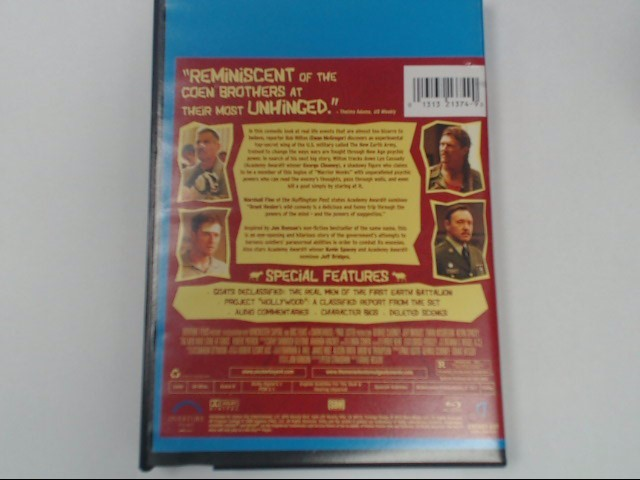 THE MEN WHO STARED AT GOATS, BLU-RAY DVD MOVIE