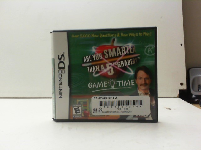 NINTENDO Nintendo DS Game ARE YOU SMARTER THAN A 5TH GRADER DS