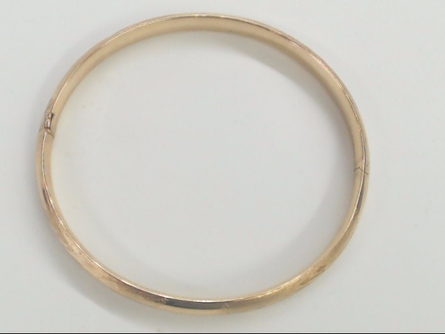 VINTAGE BABY BANGLE BRACELET SOLID 10K GOLD CHILD INFANT GIFT SHOWER