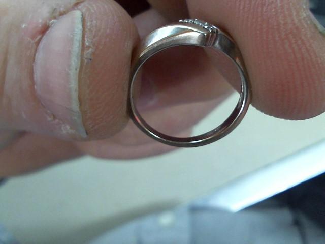Lady's Diamond Cluster Ring 3 Diamonds .03 Carat T.W. 10K White Gold 1.4g