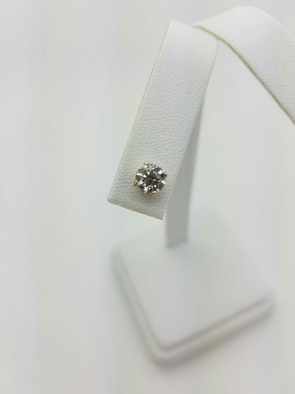 DIAMOND Gold-Diamond Earrings .35 CT. 14K White Gold 0.3dwt