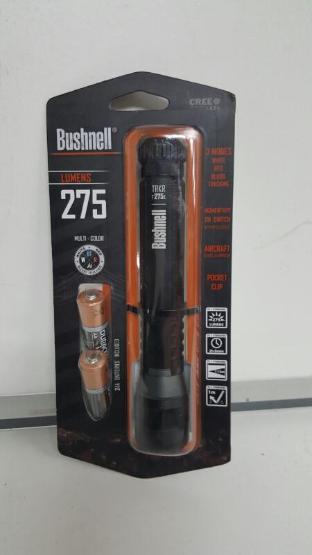 Bushnell 20217 TRKR T275L 275 Lumens Multi-Color Cree LED Flashlight