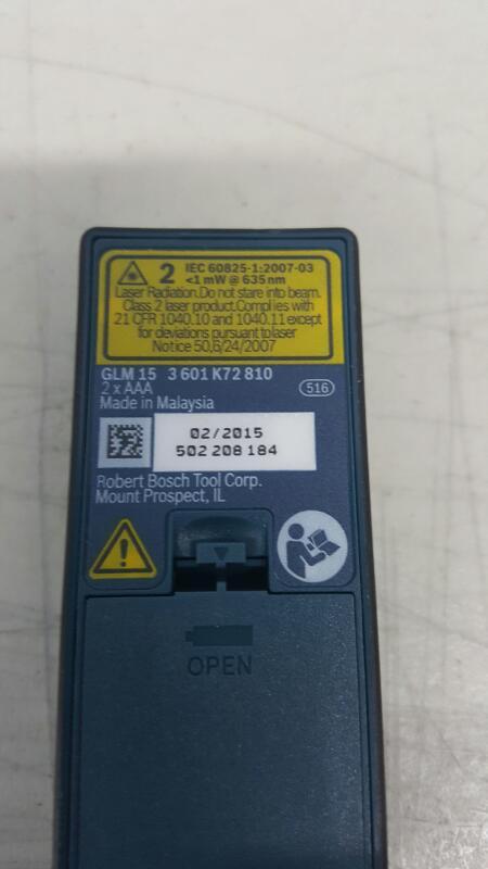 Bosch GLM 15 Compact Laser Measure, 50-Feet