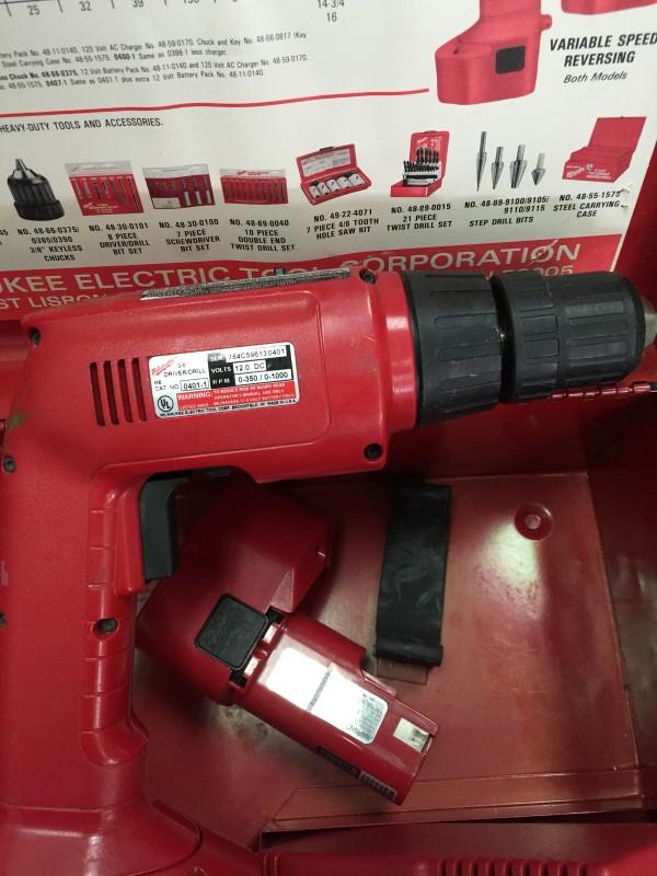 "Milwaukee 0401-1 Hi-Torque 12V 3/8"" Dual Speed Drill/Driver"