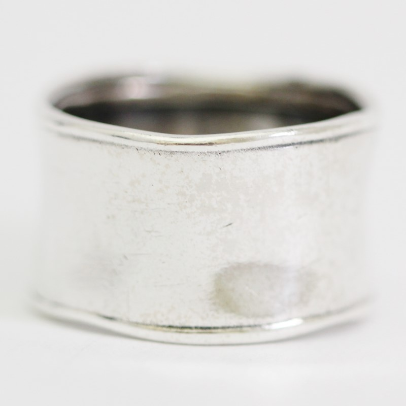 Unisex Sterling Silver Silpada Hammered Cuff Ring Size:10
