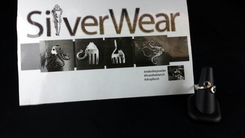 Designer Michael Kelch Swirl Spoon Ring 925 Silver