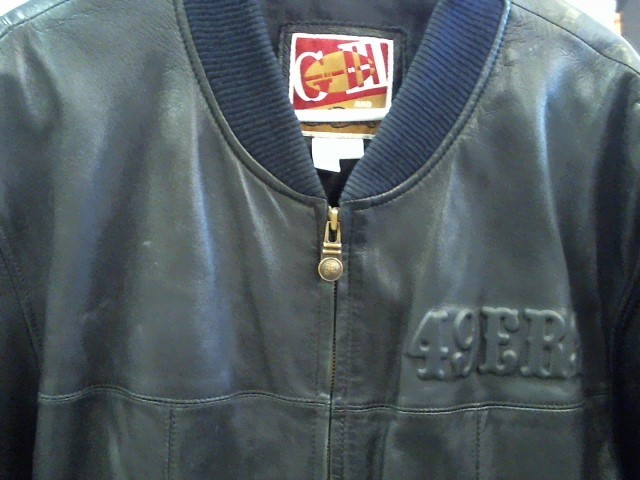 CARL BANKS Coat/Jacket 49ERS LEATHER JACKET