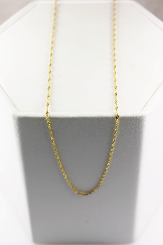 "18"" Gold Serpentine Chain 14K Yellow Gold 1.1g"