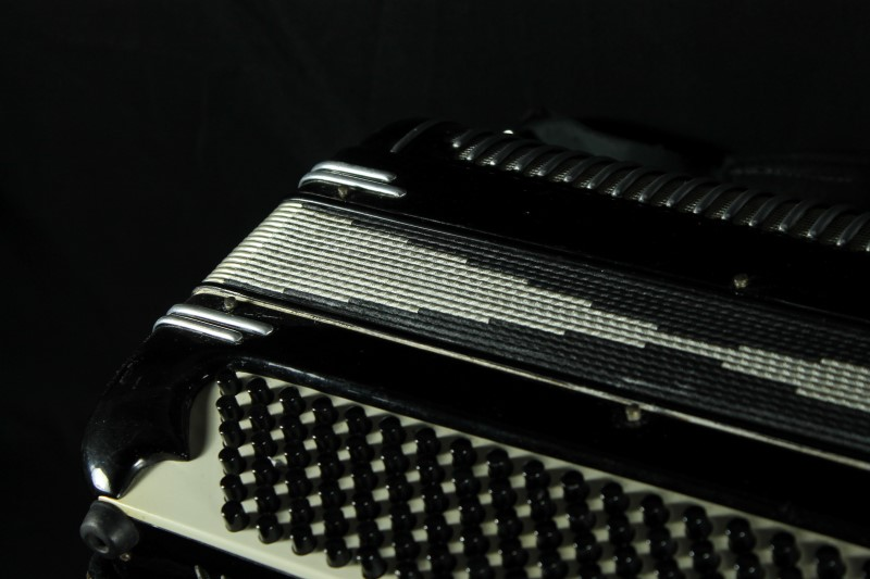 Castiglione Detroit Piano Accordion Black w/ Hard Case