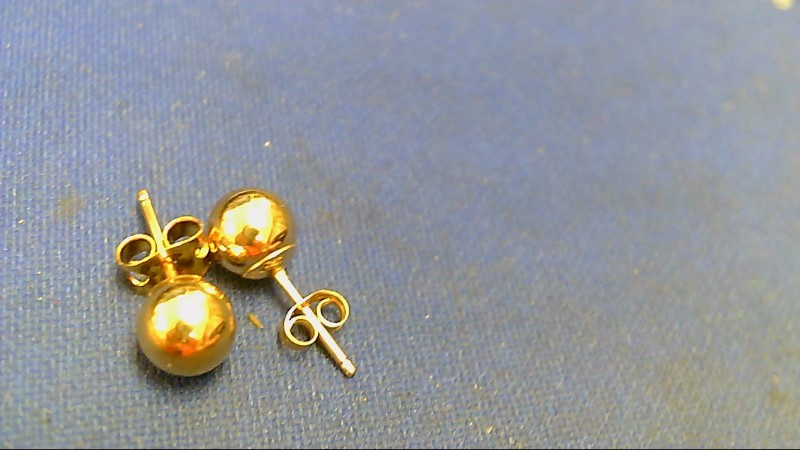 Gold Earrings 14K Yellow Gold 0.4g