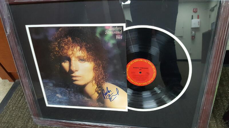 BARBRA STREISAND AUTOGRAPHED VINYL WET ALBUM  WITH CERTIFICATE OF AUTHENTICITY