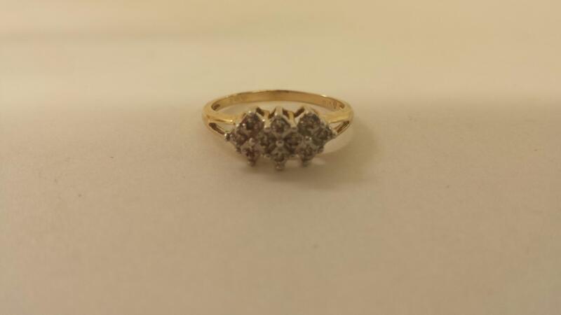 10K-Y/G 10 Diamond Fashion Ring