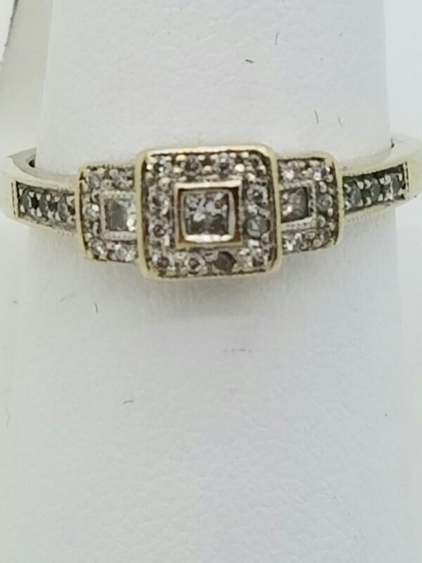 DIAMOND Lady's Diamond Fashion Ring 29 Diamonds .30 Carat T.W. 14K White Gold
