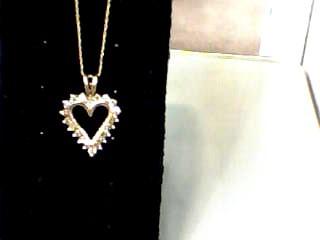 Diamond Necklace 20 Diamonds 1.00 Carat T.W. 14K Yellow Gold 2dwt