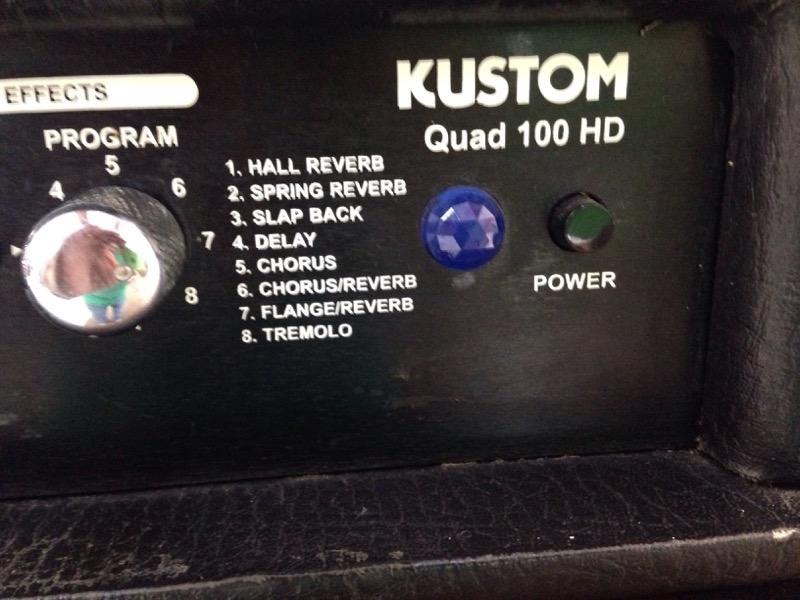Kustom Quad 100HD Guitar Amplifier Head 100 Watts