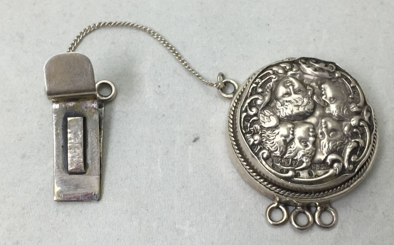 Antique Silver Victorian Multi Chain Clasp