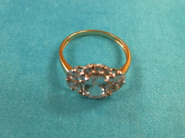 Teal Stone Lady's Stone Ring 14K Yellow Gold 2dwt