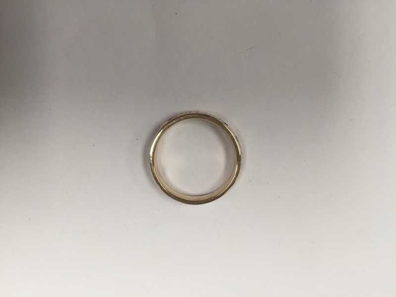 Keltic Gent's Gold Wedding Band 14K Yellow Gold 6.2g Size:10.5