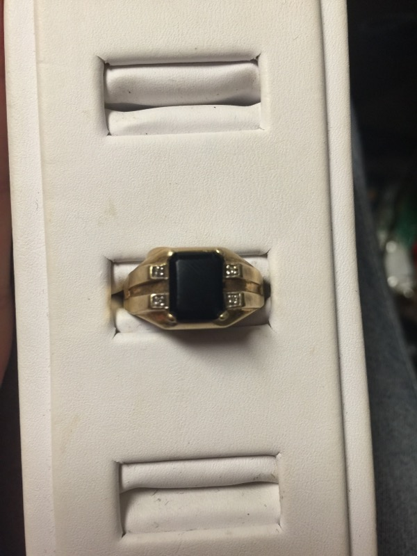 Gent's Gold Ring 10K Yellow Gold 3.4g Size:10