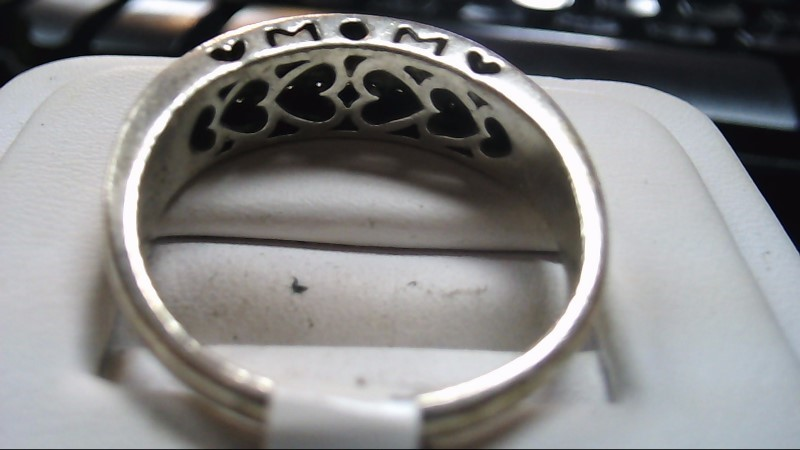 Lady's Mom Hearts Silver-Diamond Ring 925 Silver Size:11