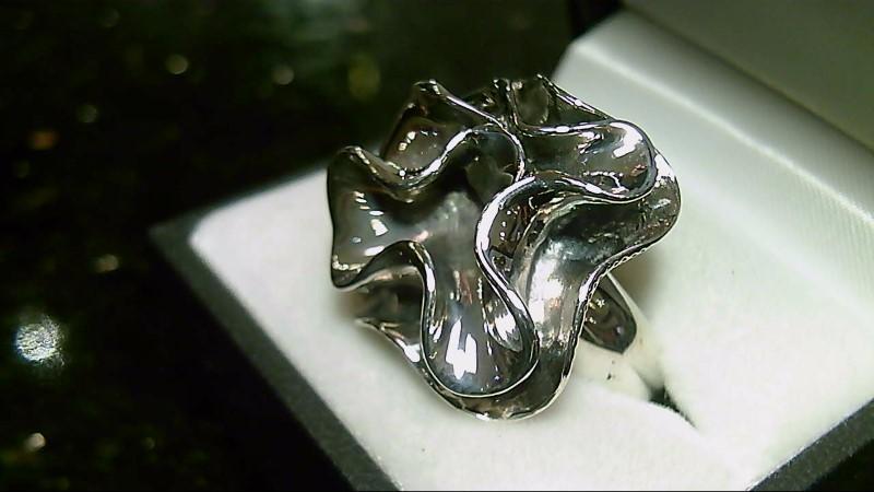 Silpada Flower Design Sterling Silver Ring 925 Sz 8.25