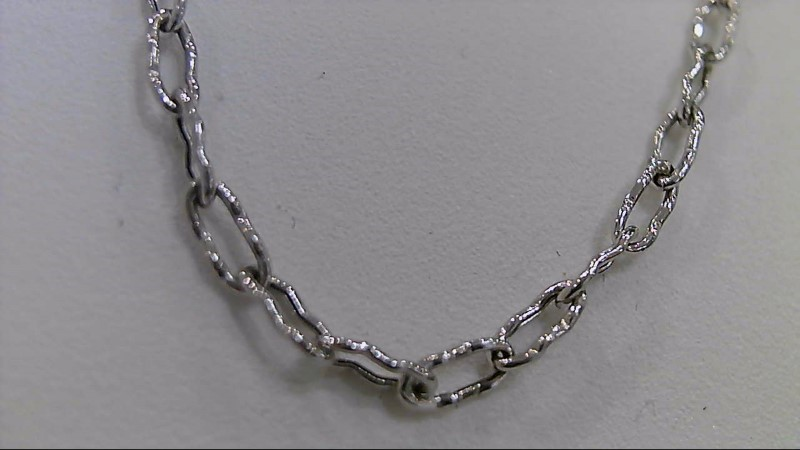 "16"" Gold Link Chain 14K White Gold 3.9g"