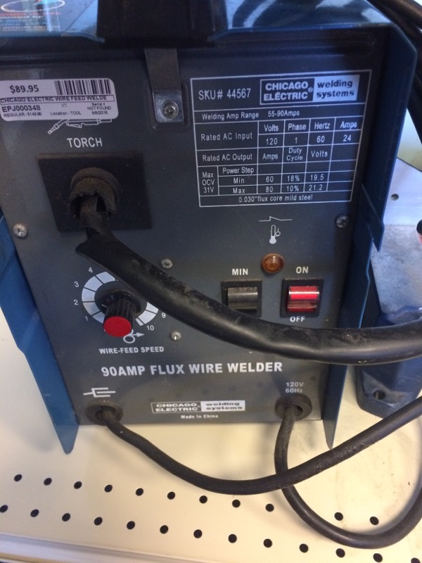 CHICAGO ELECTRIC Wire Feed Welder WELDER 44567