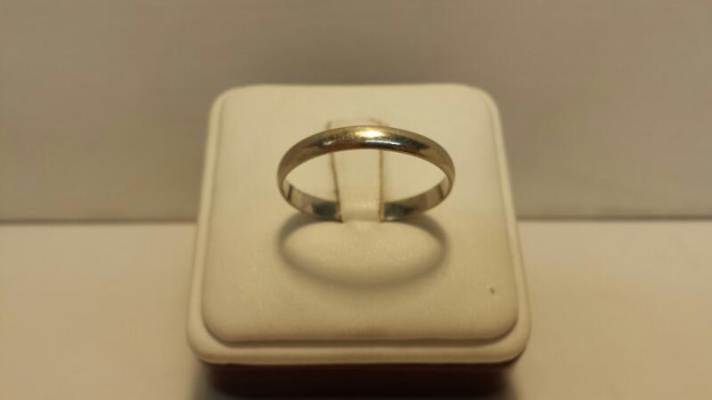 10k White Gold Plain Band - 1.3dwt - Size 13