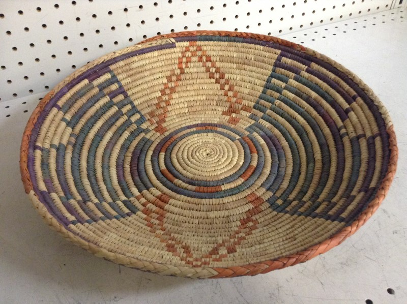 NAVAJO American Indian Blanket/Rug WEDDING BASKETS