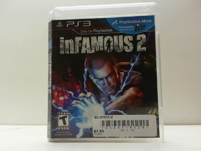SONY Sony PlayStation 3 Game INFAMOUS 2