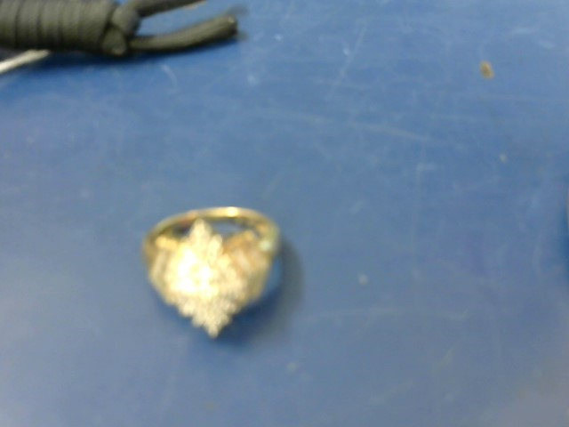 Lady's Diamond Cluster Ring 47 Diamonds 2.07 Carat T.W. 10K Yellow Gold 5.4g