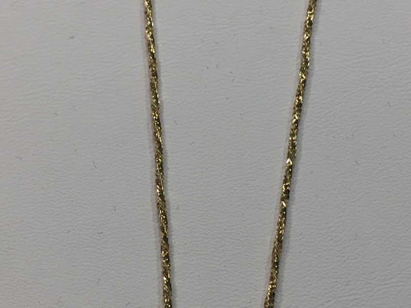 "18"" Gold Fine Twisted Chain 14K Yellow Gold 3.3g"