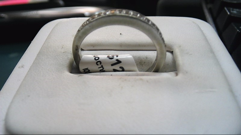 Lady's Diamond Wedding Band 20 Diamonds .40 Carat T.W. 14K White Gold 2.3g