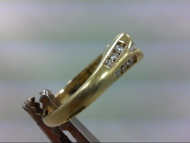 Lady's Diamond Engagement Ring 13 Diamonds .86 Carat T.W. 14K Yellow Gold 5.83g
