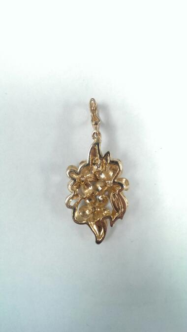 Gold-Multi-Diamond Pendant 3 Diamonds .03 Carat T.W. 14K Yellow Gold 5.6g