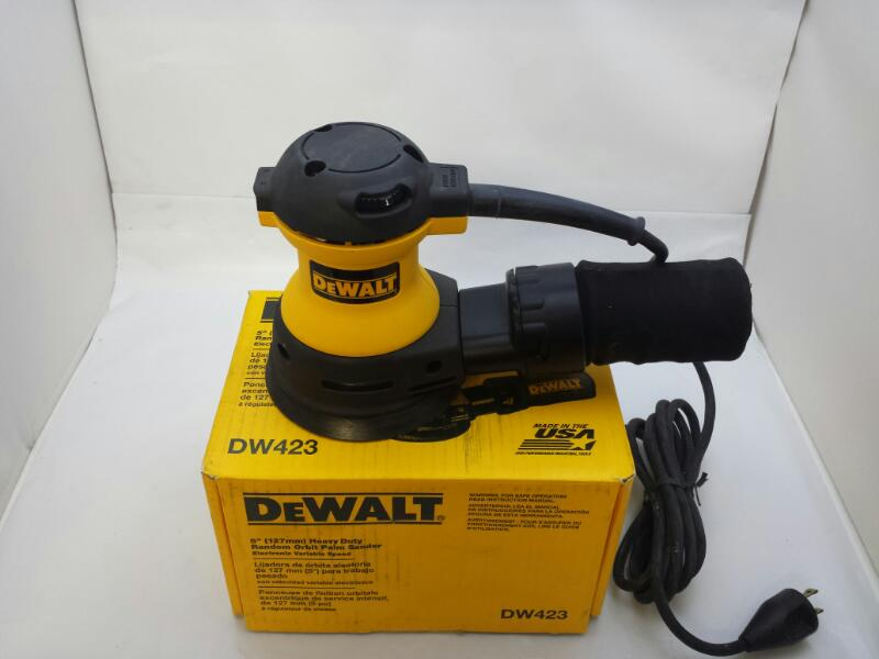 "Dewalt DW423 5"" Heavy Duty Random Orbital Corded Electric Sander"