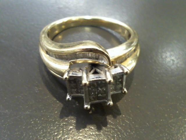 Lady's Diamond Fashion Ring 62 Diamonds 1.94 Carat T.W. 10K Yellow Gold 5.2g