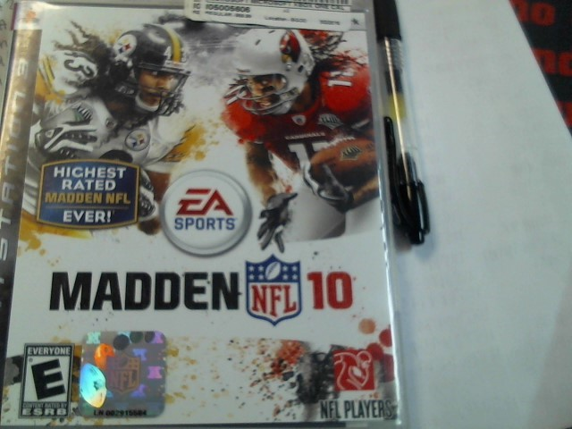 SONY PS3 MADDEN NFL 10 VIDEO GAME